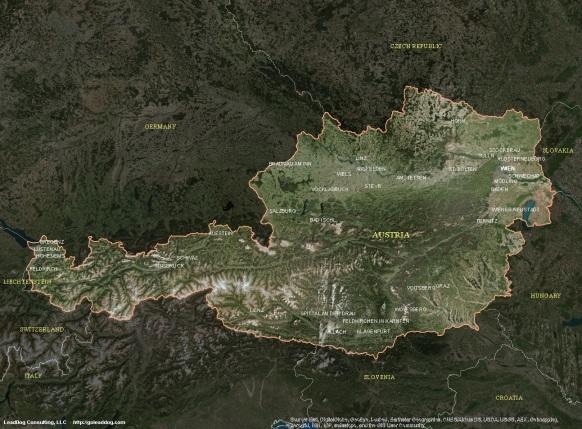 Wien, Austria Satellite Map
