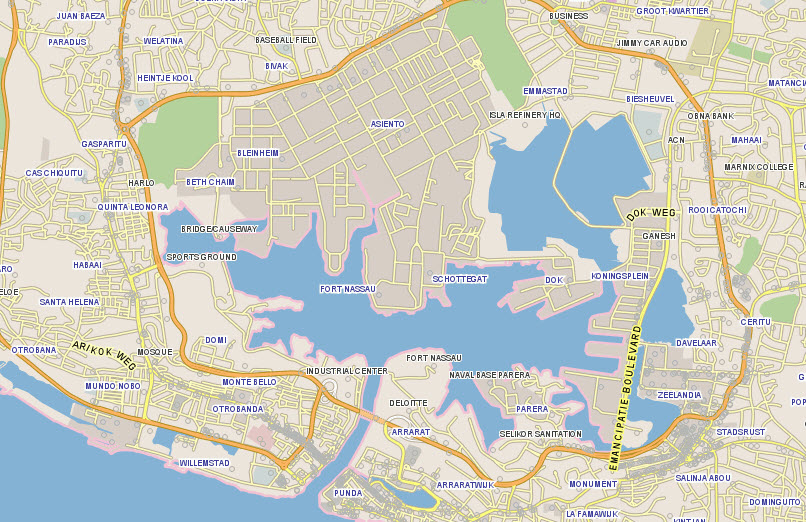 Curacao Location On World Map.Curacao Gis Maps Poi S And Street Level Imagery Leaddog Consulting