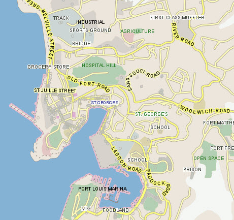 Grenada GIS Maps POIs and StreetLevel Imagery LeadDog Consulting