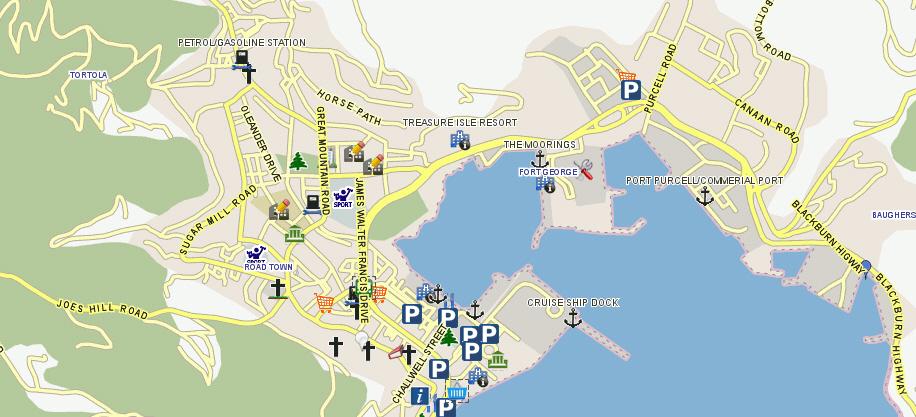 Tortola BVI GIS map