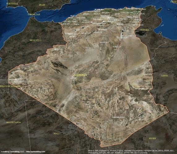 Algiers, Algeria Satellite Map