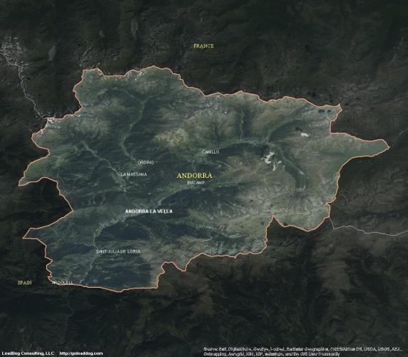 Andorra la Vela, Andorra Satellite Map