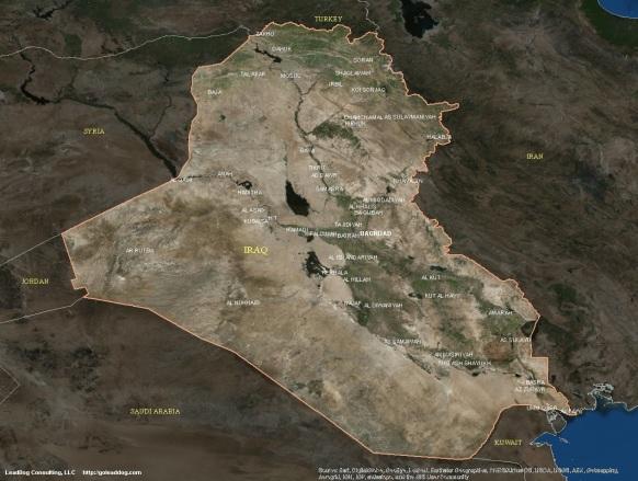 Baghdad, Iraq Satellite Map