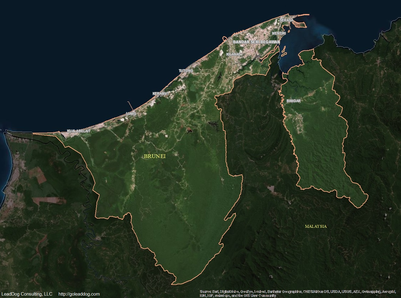 Bandar Seri Begawan Brunei  City new picture : Bandar Seri Begawan, Brunei Satellite Map