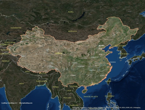 Beijing, China Satellite Map