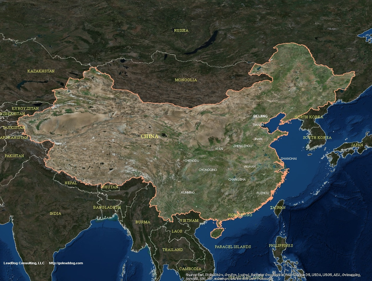China Satellite Maps LeadDog Consulting