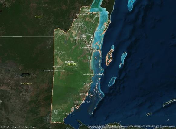 Belmopan, Belize Satellite Map