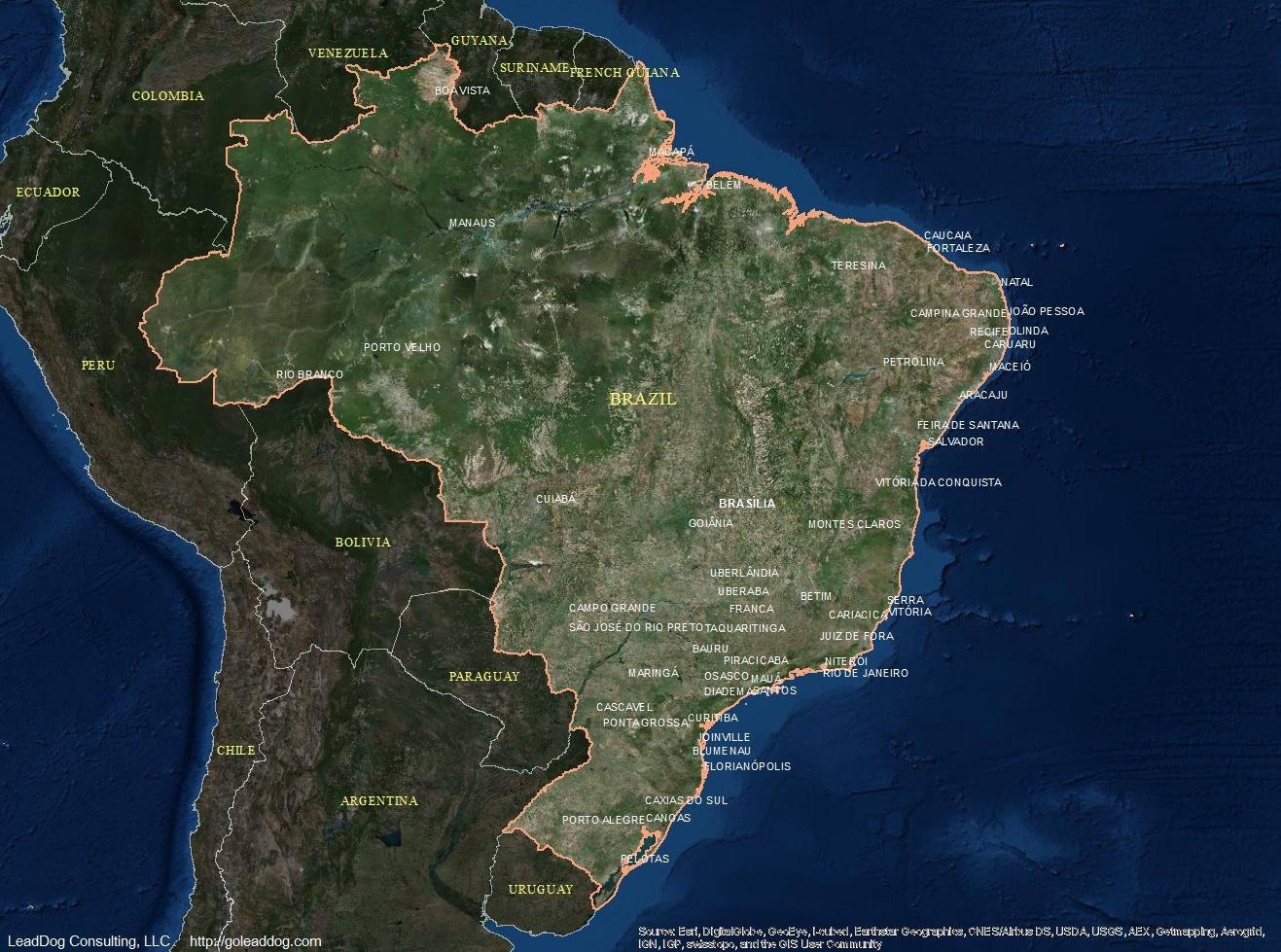 Brazil Satellite Maps LeadDog Consulting
