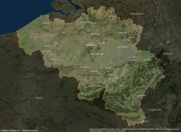 Brussels. Belgium Satellite Map