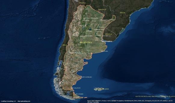 Buenos Aires, Argentina Satellite Map