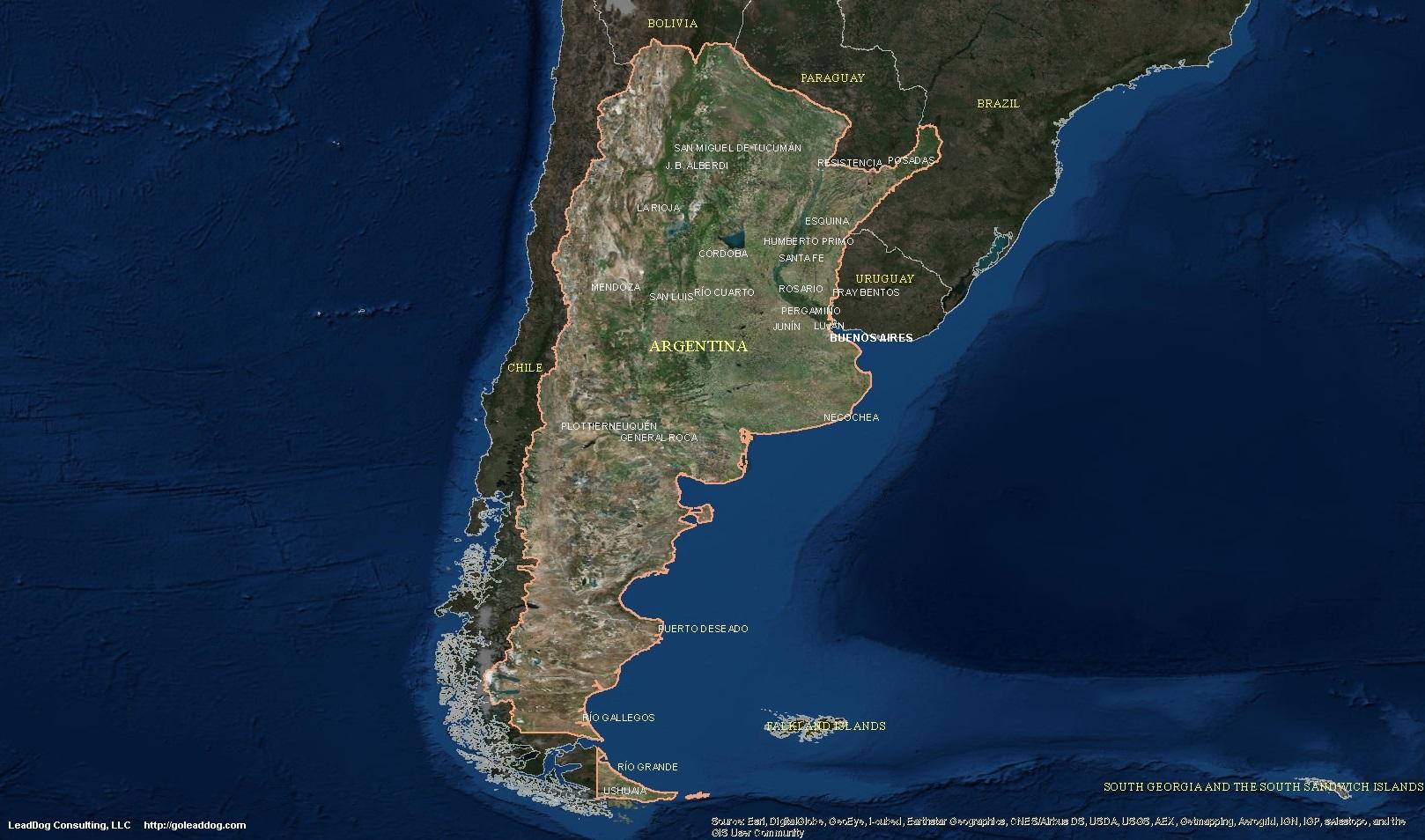 Argentina Satellite Maps | LeadDog Consulting