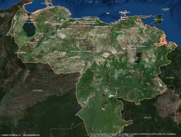 Caracas, Venezuela Satellite Map