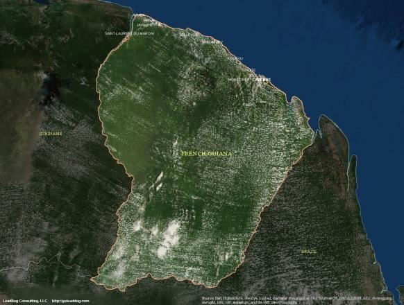 Cayenne, French Guiana Satellite Map