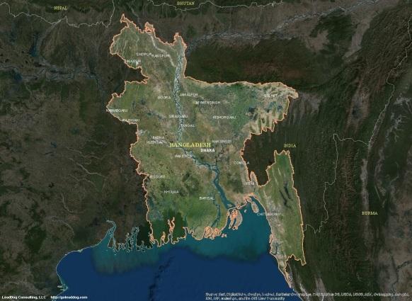 Dhaka, Bangladesh Satellite Map