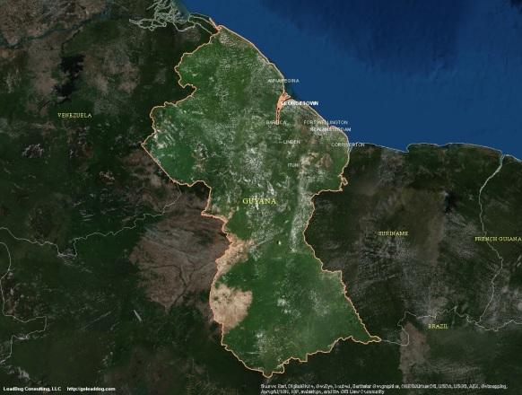 Georgetown, Guyana Satellite Map