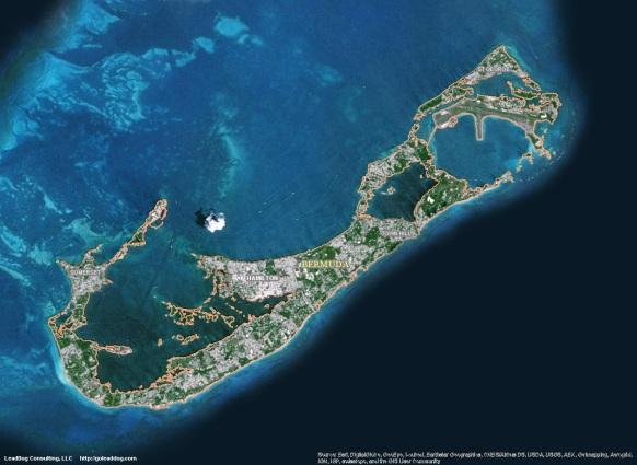 Hamilton, Bermuda Satellite Map