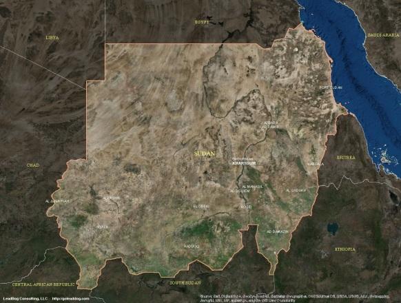 Khartoum, Sudan Satellite Map