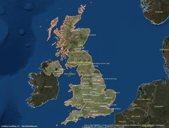 London, UK Satellite Map
