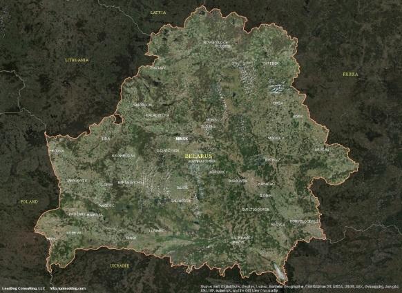 Minsk, Belarus Satellite Map