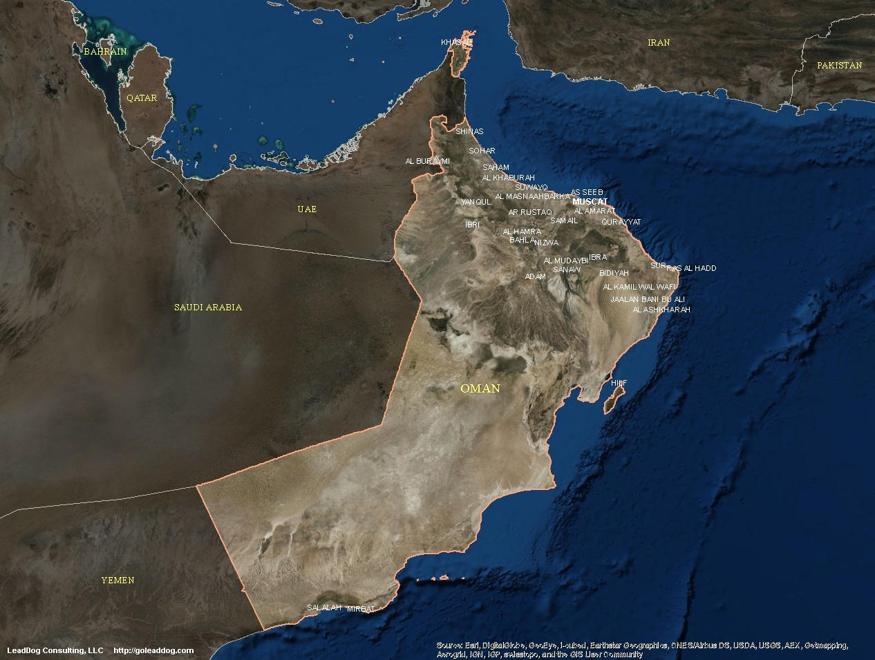 Oman satellite maps leaddog consulting muscat oman satellite map gumiabroncs Gallery