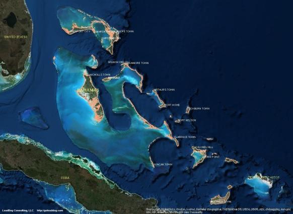 Nassau, Bahamas Satellite Map