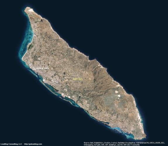 Oranjestad, Aruba Satellite Map