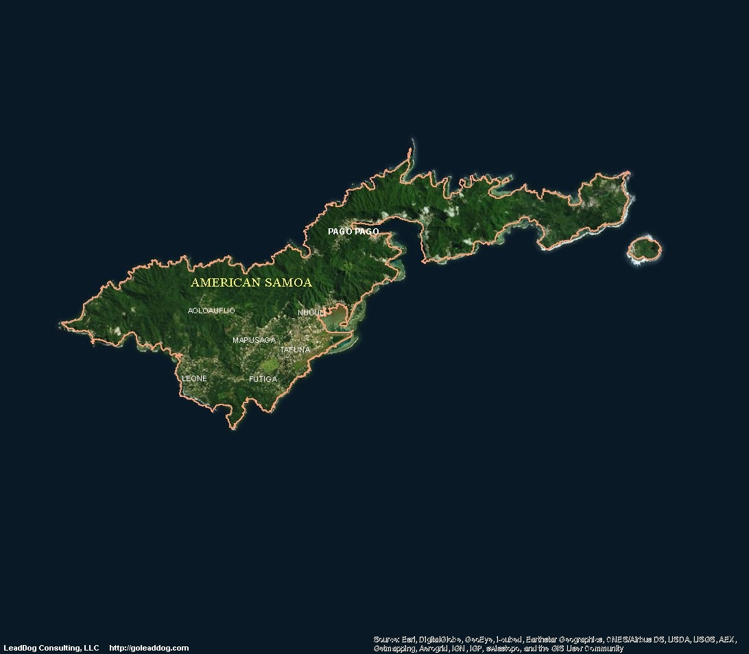 American Samoa Satellite Maps LeadDog Consulting