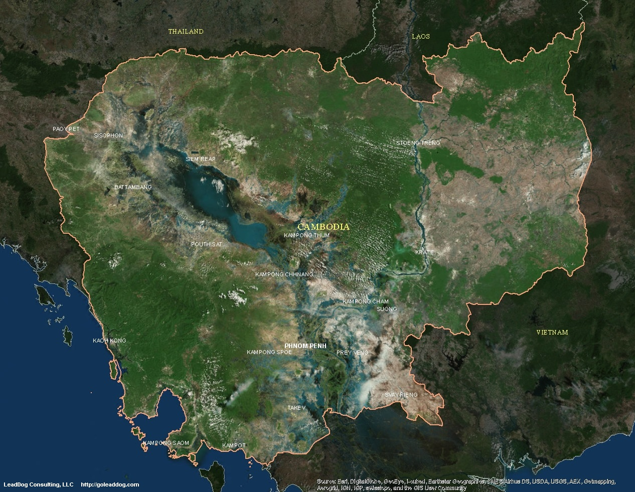 Cambodia Satellite Maps LeadDog Consulting