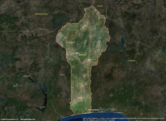 Porto Novo, Benin Satellite Map
