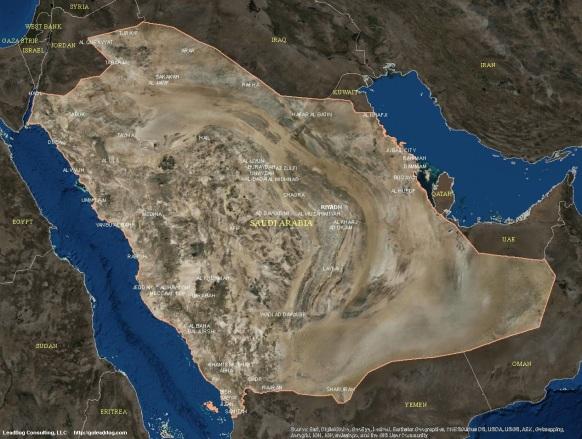 Riyadh, Saudi Arabia Satellite Map