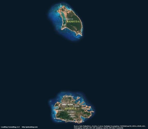 Saint John's, Antigua & Barbuda Satellite Map