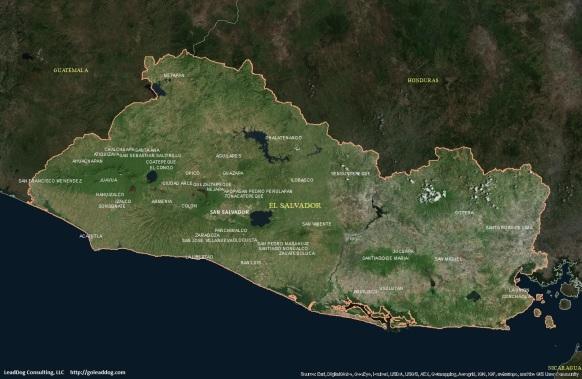 San Salvador, El Salvador Satellite Map