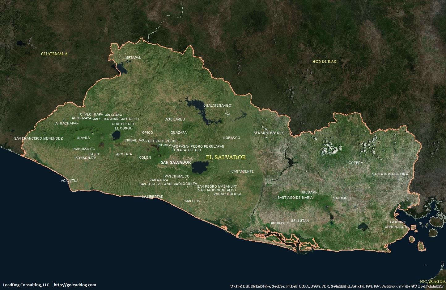 El Salvador Satellite Maps LeadDog Consulting