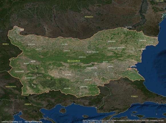 Sofia, Bulgaria Satellite Map