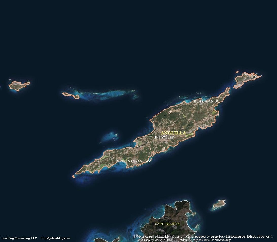 Anguilla Satellite Maps LeadDog Consulting - World map online satellite 2015