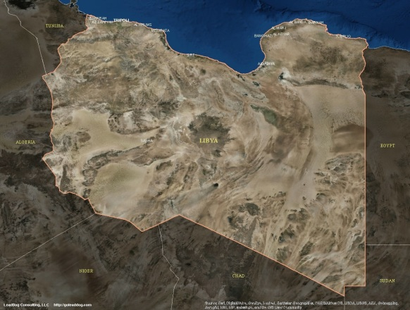 Tripoli, Libya Satellite Map