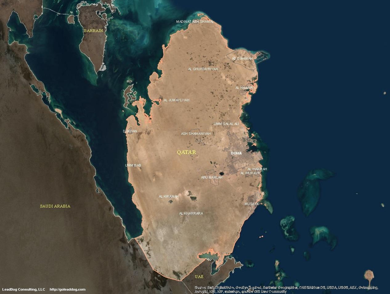 Qatar Satellite Maps | LeadDog Consulting