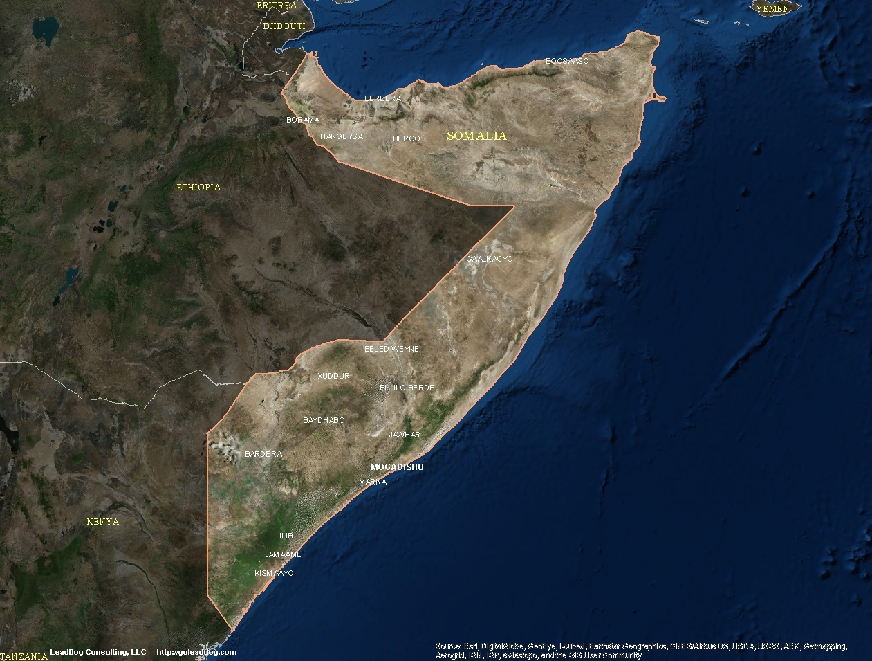 Somalia Satellite Maps | LeadDog Consulting on topo map of djibouti, political map of djibouti, sports of djibouti, detailed map of djibouti, terrain map of djibouti, outline map of djibouti, blank map of djibouti, world map of djibouti, street map of djibouti, physical map of djibouti, topographical map of djibouti,